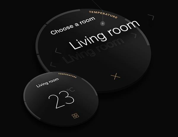 Screendesign Beispiel anhand Smartwatch App von LACHESIS