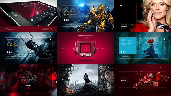 Screendesign Beispiel aus dem TV - hier ProSieben