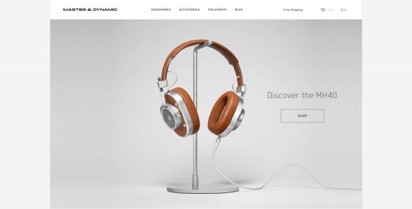 Minimalistisches Webdesign - Beispiel www.masterdynamic.com