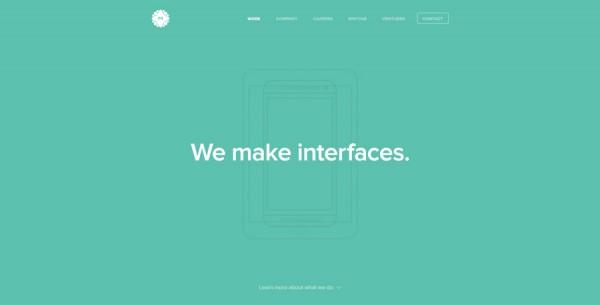 Minimalistisches Webdesign - Beispiel metalab.co