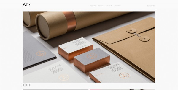 Minimalistisches Webdesign - Beispiel sociodesign.co.uk