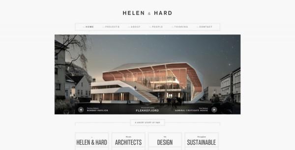 Minimalistisches Webdesign - Beispiel www.helenhard.no