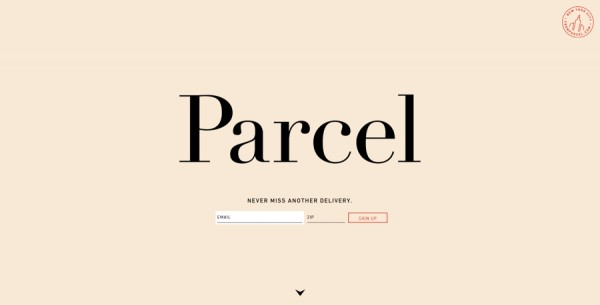 Minimalistisches Webdesign - Beispiel www.fromparcel.com