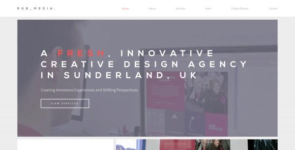 Minimalistisches Webdesign - Beispiel rgb-ltd.co.uk