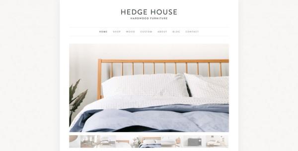 Minimalistisches Webdesign - Beispiel www.hedgehousefurniture.com