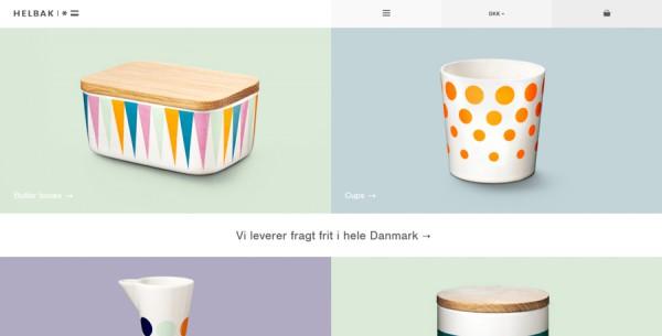 Minimalistisches Webdesign - Beispiel helbak.com