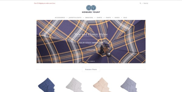Minimalistisches Webdesign - Beispiel howardyount.com