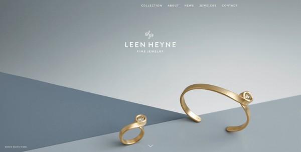 Minimalistisches Webdesign - Beispiel leenheyne.nl