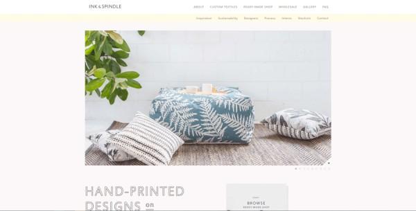Minimalistisches Webdesign - Beispiel inkandspindle.com