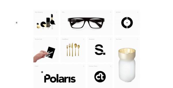 Minimalistisches Webdesign - Beispiel www.samdallyn.co.uk
