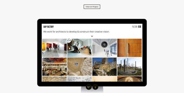 Minimalistisches Webdesign - Beispiel www.oneiota.com