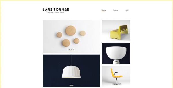 Minimalistisches Webdesign - Beispiel larstornoe.com