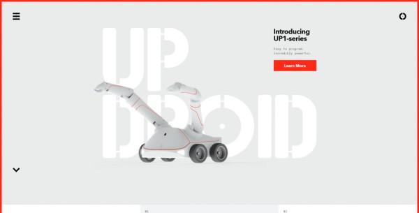 Minimalistisches Webdesign - Beispiel www.updroid.com