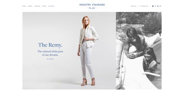 Minimalistisches Webdesign - Beispiel industrystandardny.com