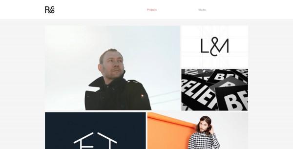 Minimalistisches Webdesign - Beispiel r-ny.com