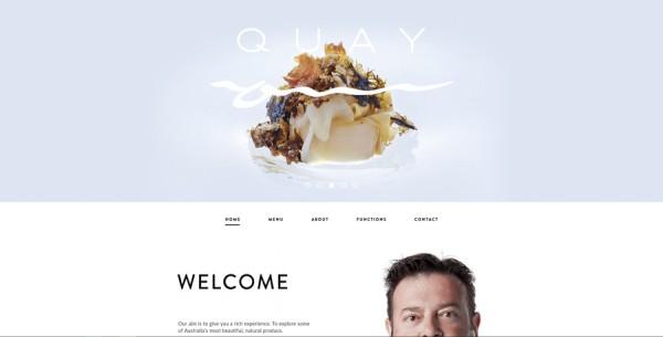 Minimalistisches Webdesign - Beispiel quay.com.au