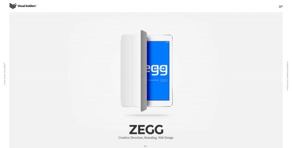 Minimalistisches Webdesign - Beispiel visualsoldiers.com