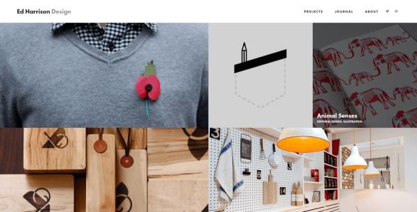 Minimalistisches Webdesign - Beispiel edharrisondesign.com