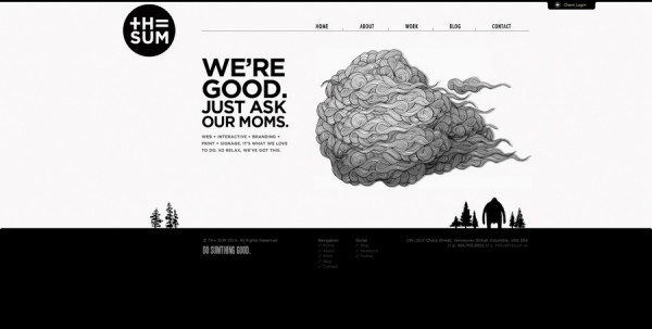 Minimalistisches Webdesign - Beispiel www.thesum.ca