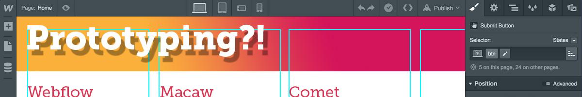 Prototyping mit Adobe Project Comet – wir warten gespannt.