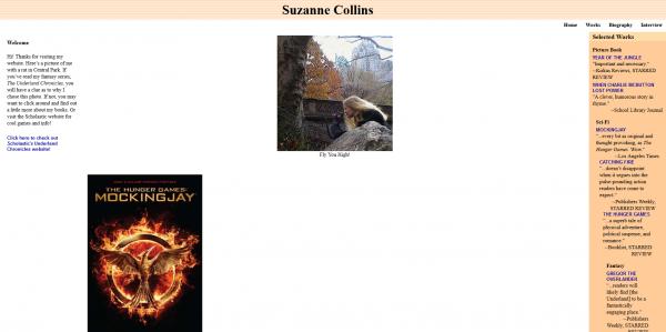 """Website der Autorin von """"Hunger Games"""""""
